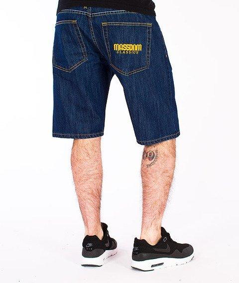Mass-Classics Spodnie Krótkie Jeans Rinse Blue