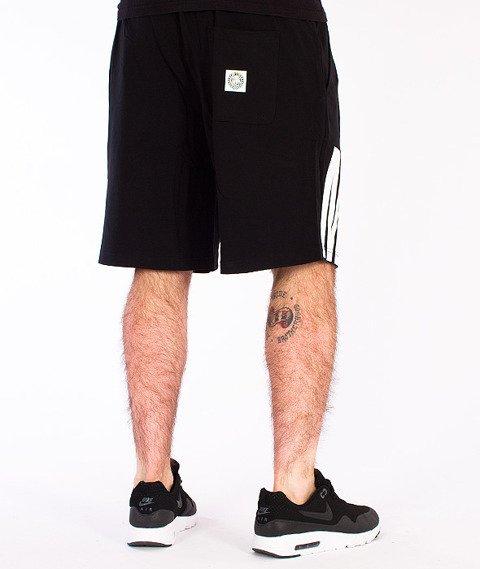 Mass-Outsized Spodnie Dresowe Krótkie Czarne
