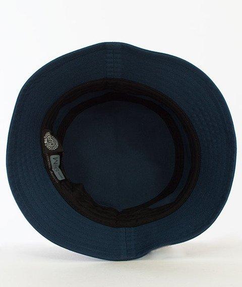 Mass-Signature Bucket Hat Granatowy