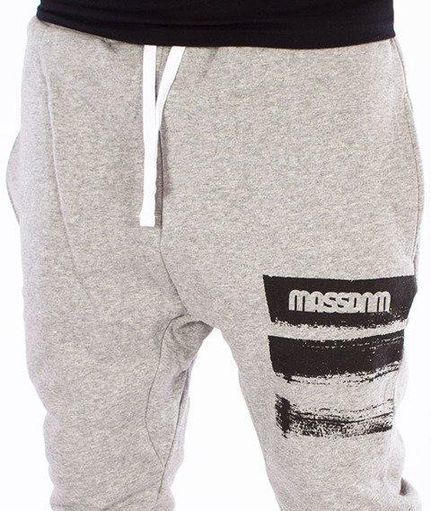 Mass-Traces Spodnie Dresowe Szare