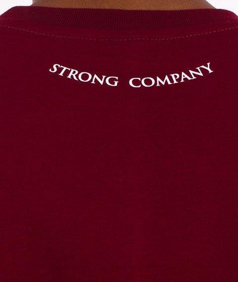 Nervous-3D Line T-Shirt Bordowy
