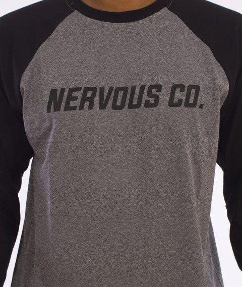 Nervous-CO. Fa16 Longsleeve Szary/Czarny