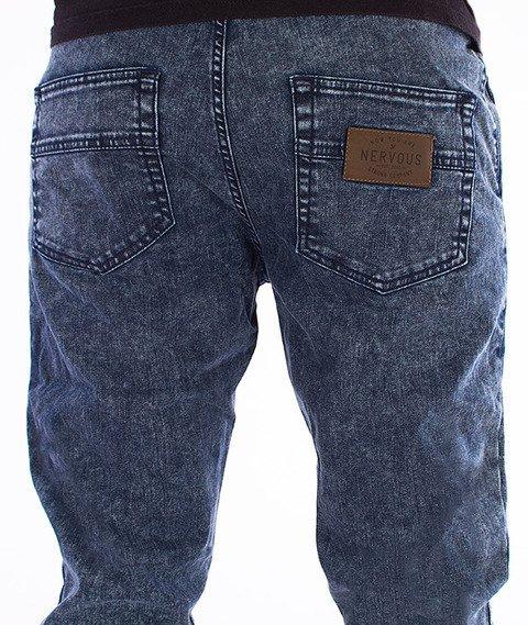 Nervous -Jogger Jeans Fa16 Spodnie Niebieskie/Marmur