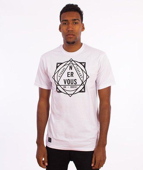 Nervous-Pyramid T-Shirt Biały