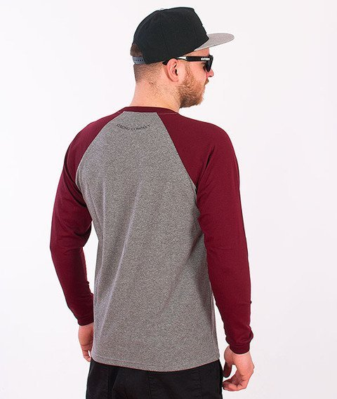 Nervous-Shield Longsleeve Grey/Maroon