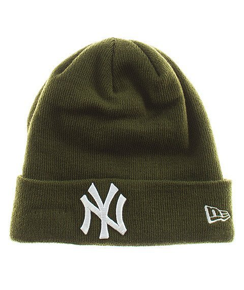 New Era-NY Yankees Essential Cuff Czapka Zimowa Zielona