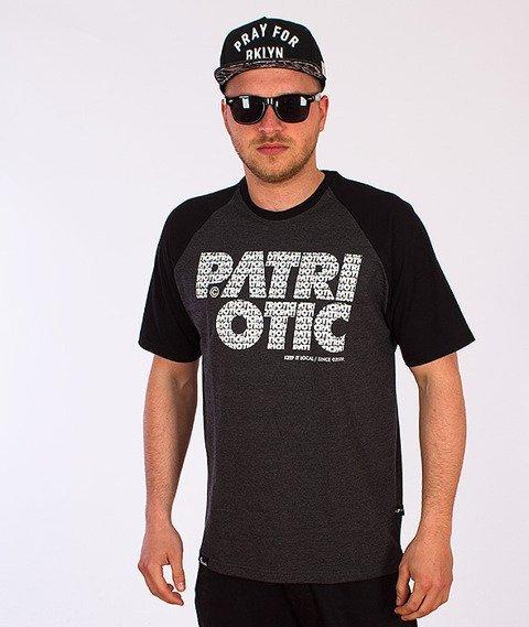 Patriotic-CLS Fonts T-Shirt Grafitowy/Czarny
