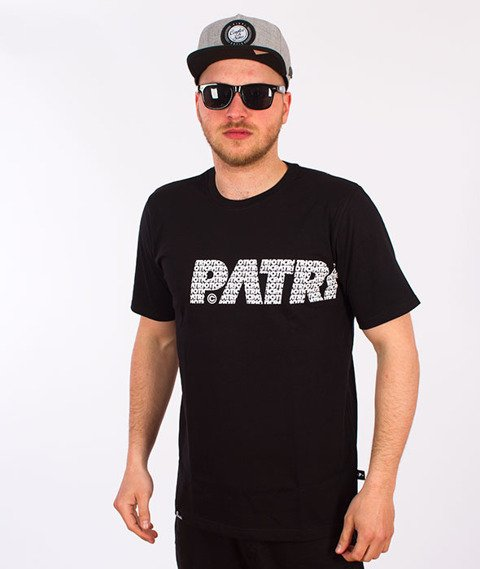 Patriotic-Fonts T-shirt Czarny