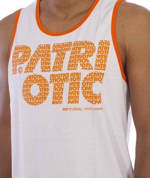 Patriotic-Fonts Tank-Top Biały/Pomarańczowy