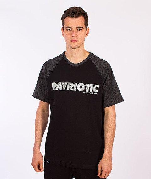 Patriotic-Futura Fonts T-Shirt Czarny/Grafitowy