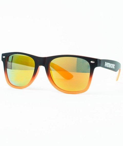 Patriotic-Futura Mat Okulary Czarne-Pomarańczowe/Cieniowane-Pomarańczowe/Pomarańczowe