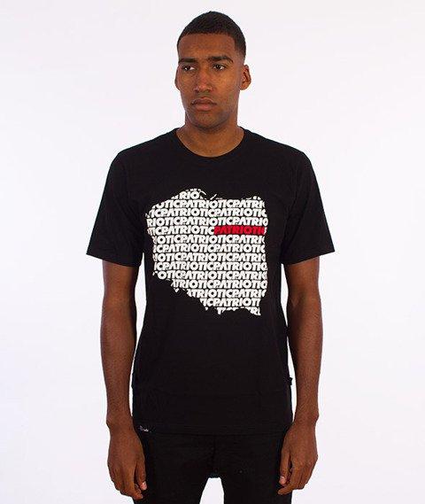 Patriotic-Map T-shirt Czarny