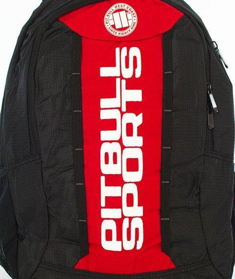 Pit Bull West Coast-Basic Backpack Plecak Czarny/Czerwony
