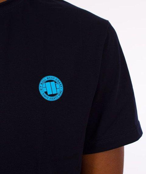 Pit Bull West Coast-Small Logo T-Shirt Granatowy