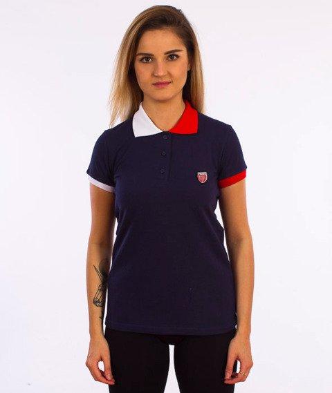 Prosto-Off T-shirt Damski Granatowy