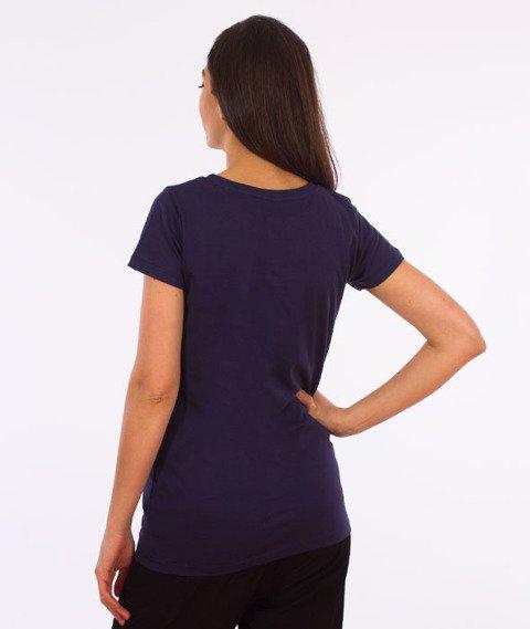 Prosto-Pitch T-shirt Damski Granatowy