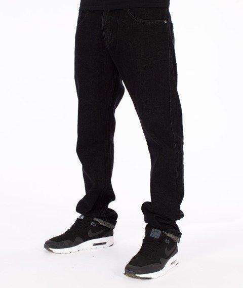 Prosto-Slavic Regular Spodnie Jeans Czarne