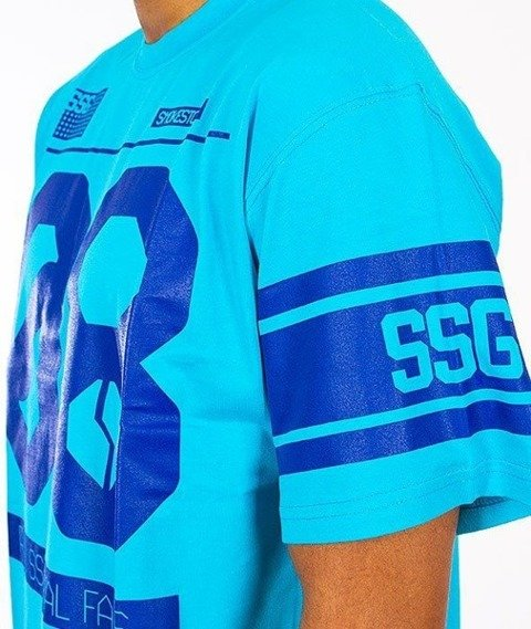 SmokeStory-08 T-Shirt Neonowy Błękitny