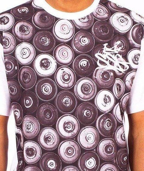 SmokeStory-Black Cans T-Shirt Biały