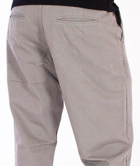 SmokeStory-Chino Regular Spodnie Szare