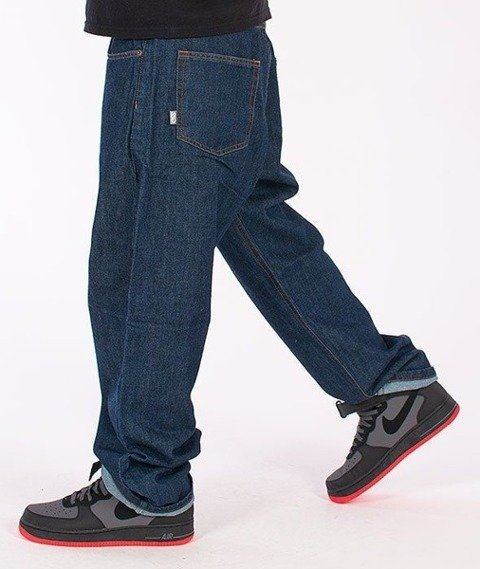 SmokeStory-Classic Baggy Jeans Dark Blue