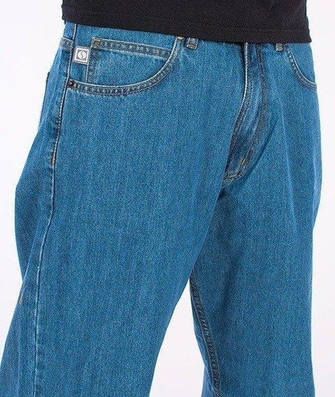 SmokeStory-Classic Baggy Jeans Light Blue
