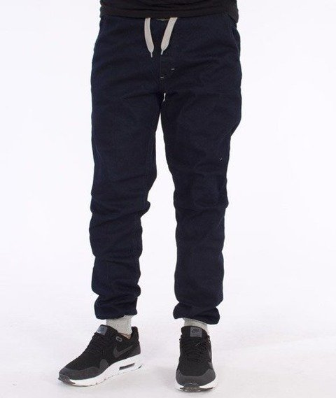 SmokeStory-Jogger Slim Cotton Spodnie Dark Blue