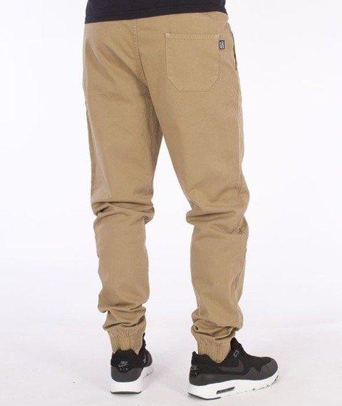 SmokeStory-Jogger Slim Klasyk Spodnie Beżowe