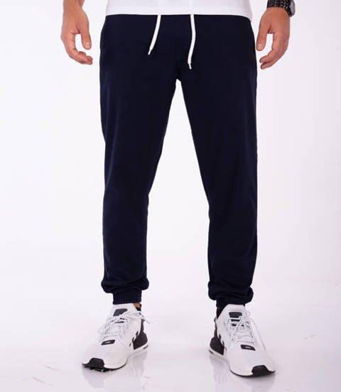 SmokeStory-Klasyk Jogger Slim Spodnie Granatowe