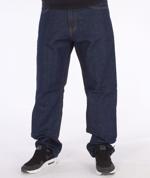 SmokeStory-Lines Regular Jeans Dark Blue