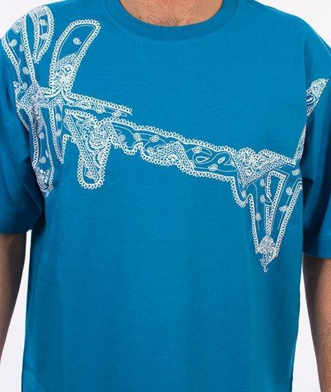 Stoprocent-Bandana16 T-shirt Niebieski
