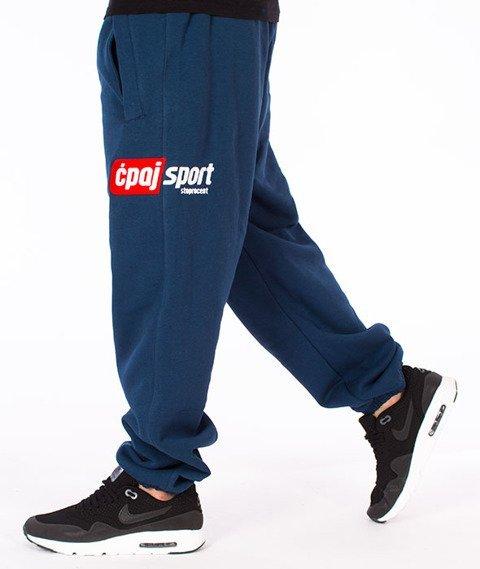 Stoprocent-CS Simple17 Spodnie Dresowe Granatowe