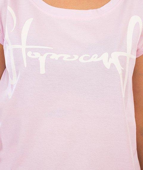 Stoprocent-Tagirl T-Shirt Damski Różowy