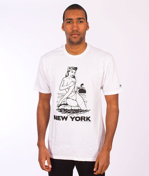 Stussy-Aloha Cities Tee White/Black