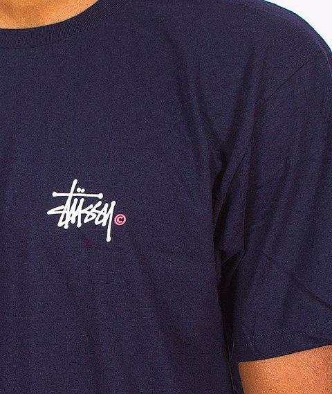 Stussy-Basic Logo T-Shirt Navy