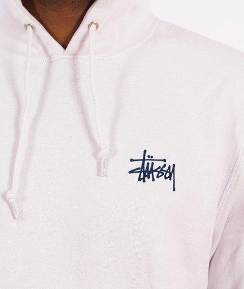 Stussy-Basic Stussy Hood Bluza Kaptur Biały