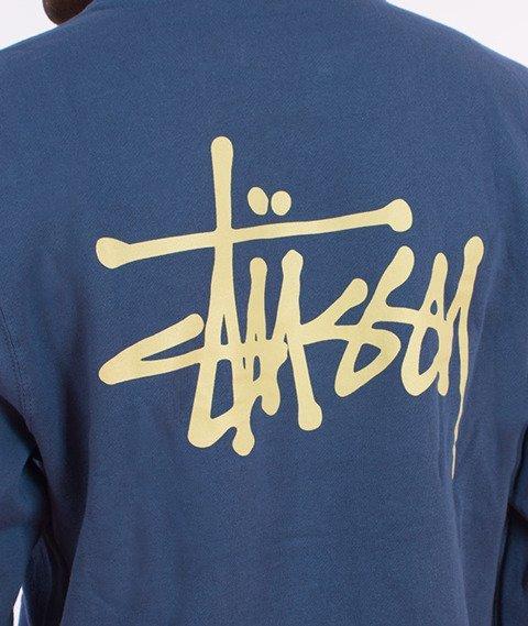 Stussy-Basic Stussy Hood Bluza Kaptur Stalowy