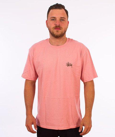 Stussy-Basic Stussy T-Shirt Dusty Rose