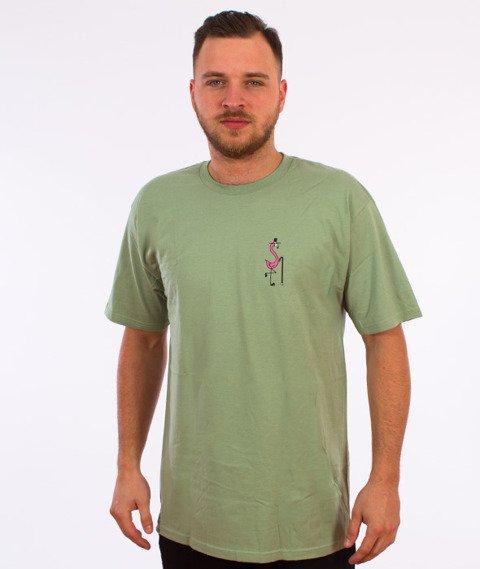 Stussy-Flam T-Shirt Zielony