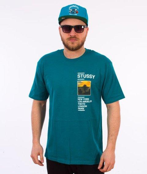 Stussy-Gold Coast T-Shirt Dark Teal