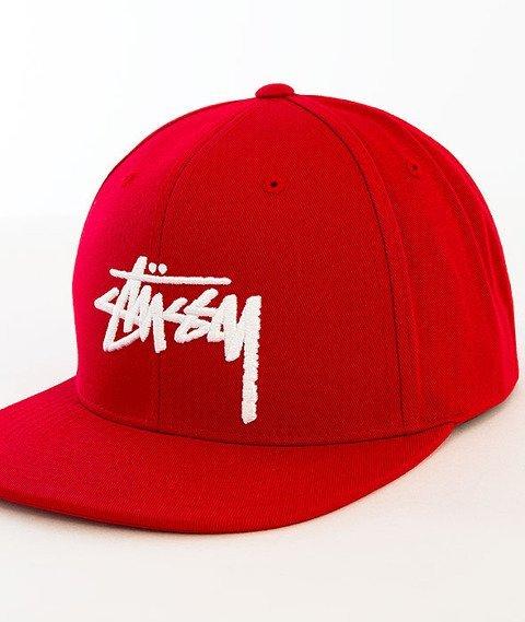 Stussy-Stock SP16 Snapback Red