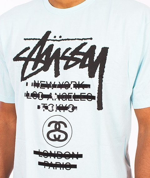 Stussy-WT Taped Tee Light Blue