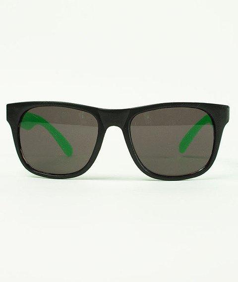 Thrasher-Logo Okulary Czarne/Zielone