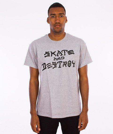 Thrasher-Skate And Destroy T-Shirt Grey
