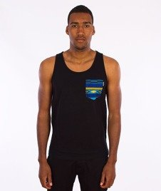 Carhartt WIP-Lester Pocket Tank Top Black/African P