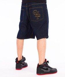 Chada-CHP Spodnie Krótkie Jeans Ciemno-Niebieskie