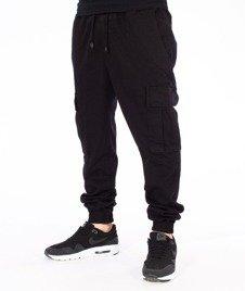 Diamante-Cargo Jogger Pants Spodnie Czarne