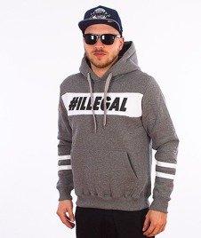 Illegal-#Illegal Line Bluza Z Kapturem Grafitowa