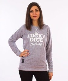 Lucky Dice-Simple Dice RND Girl Crewneck Bluza Damska Szara