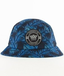 Lucky Dice-Violet Leaves Summer Bucket Hat Multikolor